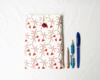 IPad Mini 4 case, screen printed fabric, fabric tablet sleeve, Samsung Galaxy tab 7,  Ipad mini cover, gift for teen, handmade in the UK