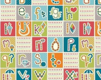 ABC Patchwork (Organic Poplin Fabric) from the Picnic Whimsy collection for Birch Fabrics