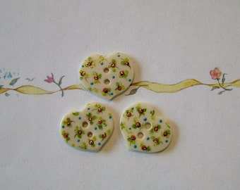 Chintz Heart set of 3