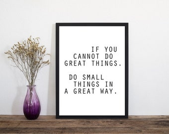 Great Things Modern Print, Wall Art, Art Print, Typography Poster, , Scandinavian Art, Minimalist Print, Literary Print, Literary Quote