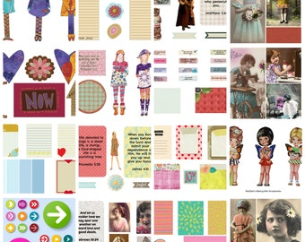 Faithbooking Journal Workshop and 40 collage sheets - Printed Version