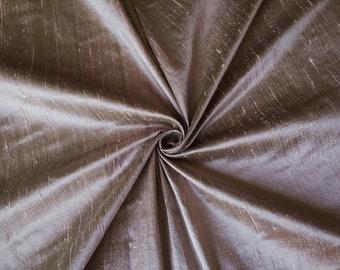 "Pink Green 100% dupioni silk fabric yardage By the Yard 45"" wide"