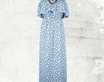 PDF Sewing Pattern Woman's Sophia Strapless Maxi Dress - D1404 Sizes 8 - 18