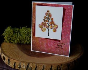 Zum sammeln, glückliche Momente, Herbst, handgemachte Grußkarte