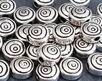 set of 25 8 mm Tibetan silver beads