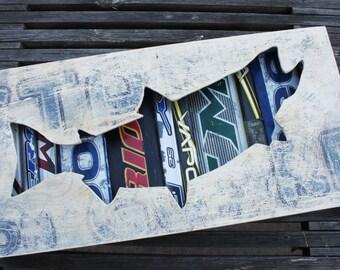 "Unstoppable: 22 x 12"" Salmon Shadow Box"