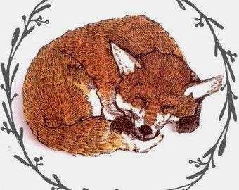 Sleeping Fox Brooch