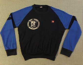 1973, Base Aerea Decimomannu, sweatshirt, in navy and royal blue