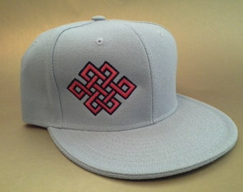 Endless Knot Fitted Hat made to order flat bill Celtic crop circle sacred geometry FREE SHIPPING