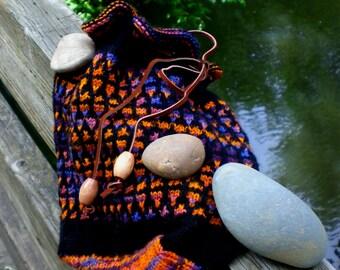 Freedom Rocks mosaic drawstring bag - Pattern Only