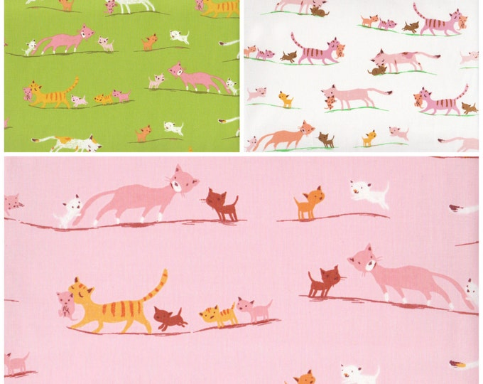 Tiger Lily by Heather Ross - Cat Family bundle HR40931, half yard set