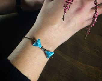 Origami cherry bracelet