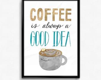 Coffee Love - Toastie Collection Art Print
