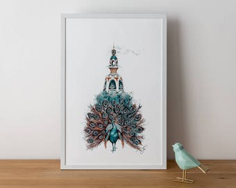 Peacock Lu - Poster - Deluxe Edition - 40 x 60 cm