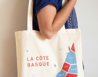 "Tote Bag organic ""The Basque Coast"""