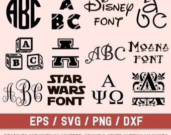 Font svg,Font Bundle,Twelve Monogram Fonts, Font Cut file,Beautiful Fonts,Star Wars font,Moana Font,Svg Font,Monogram Fonts,Calligraphy font