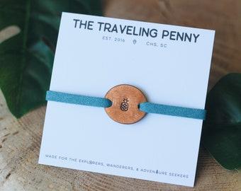 Pineapple Stacking Bracelet, Beachy Jewelry, Ocean Jewelry, Surfer Bracelet, Tropical Jewelry, Surfer Jewelry, Pineapple Jewelry, Surf Gift