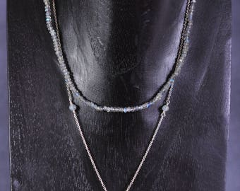 Appia necklace - silver and labradorite