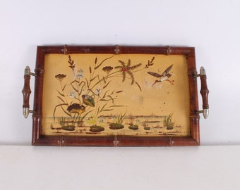 Vintage, Old, German Made Wooden Serving Tray.