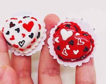 Miniature Duo Sweet heart Cake,Miniature Bakery,Miniature Sweet,Dollhouse cake,Dolls and miniature