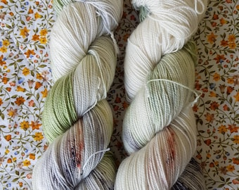 Scrivenshafts Quill Shop.4ply twist hand dyed sock yarn.