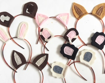 Farm Animal Headband Pack, Photo Booth Props
