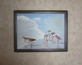 Shore Birds - Limited Edition Giclee Print on Canvas