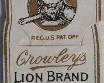 LOT of Lion Brand needles, vintage antique,  NOS, original packaging,  12 packages