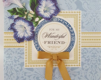 Get well soon friend pop up greeting card