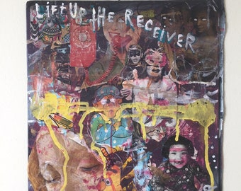 FORGIVENESS in the TIME of ILLNESS collage art depeche mode personal jesus painting street spray paint outsider mixed media