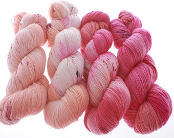 Color Mix ideas for your favorite Multicolor pattern - Hand dyed Yarn  - SALSA