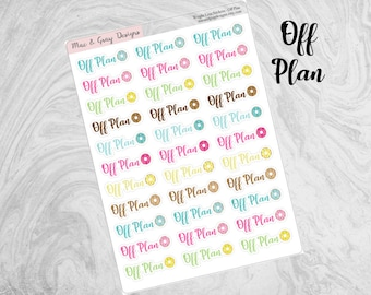 Off Plan Stickers // Weight Loss Stickers | Diet Stickers | Off Plan Text Sticker | Slimming World, Weight Watchers Diet Plan Diary Stickers