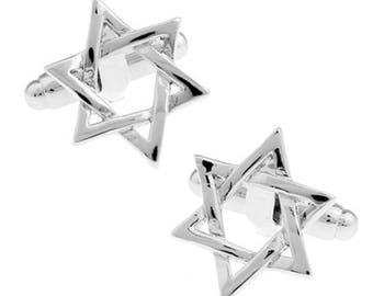 Religious Star of David Cufflinks