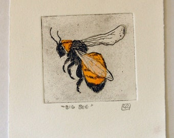 Big Bee Chine Collé Etching