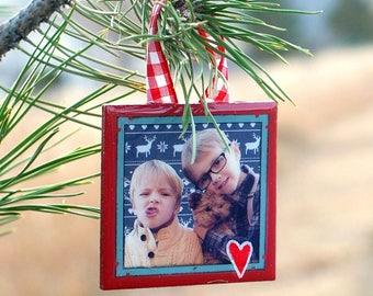 Handmade Custom Ornaments - Archive your photos & Holiday Cards!