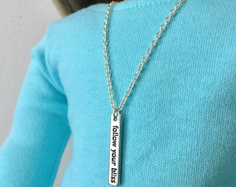"""Follow Your Bliss Statement 18"""" Doll Necklace"""