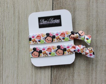 Disney Tsum Tsum Inspired Hand Made Ties - Knotted