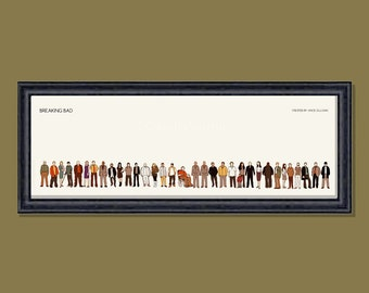 Breaking Bad framed 12x4 inches print