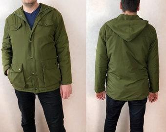 90s Oversized Jacket Vintage Parka Jacket, Military Jacket Vintage Army Jacket, Olive Green Parka Jacket Men Army Jacket, 90s Jacket Women