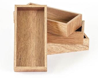 Reclaimed Mahogany Wood Mini Trays