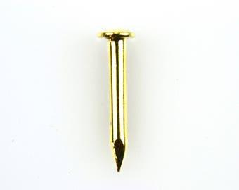 SOLID BRASS Escutcheon Pin or Nail-Decorative Nail-100 Pieces-NAIL001
