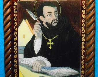 St. Augustine of Hippo Retablo - Feast Day-August 28