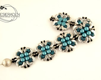 English pattern for the Floralis bracelet