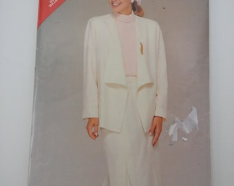 Mother Bride outfit / 80s Suit /pleated skirt /dressy suit 1986 vintage sewing pattern, Size 14 16 18, Bust 36 38 40, Butterick See Sew 5459