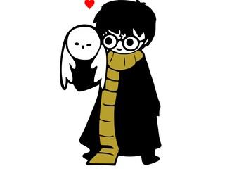 Harry Potter | Hedwig (Owl) Love Digital SVG File!