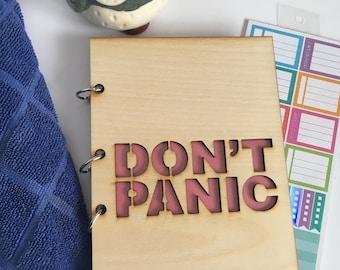 Don't Panic Refillable Journal