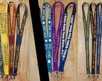 GEEKY FANDOM LANYARDS!!  Pick one.  12 designs to choose from!!