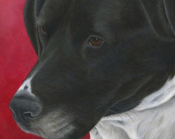 Custom Dog Portrait, Dog Oil Painting, Ready to Hang, Original, Hand Painted from your Photo