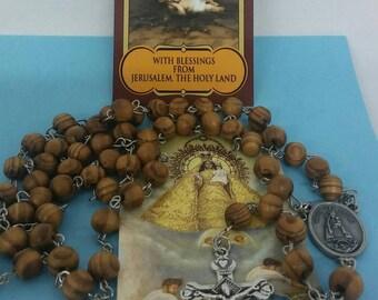 Rosario de Nuestra Sra de la Caridad del Cobre - Our Lady of Charity olive wood Rosary