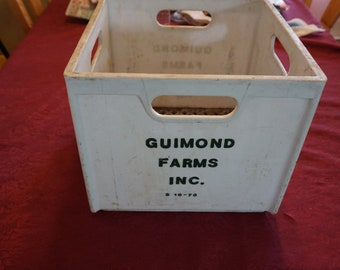 Vintage Guimond Farms Inc Milk Crate
